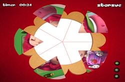 Strawberry Shortcake round puzzle